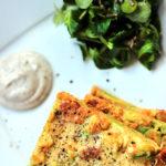 Omlet jaglany z suszonymi pomidorami