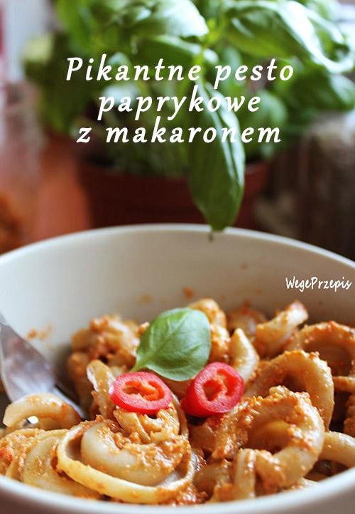 Pesto paprykowe z makaronem
