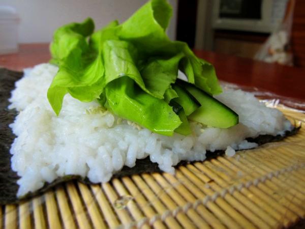 Sushi z ogórkiem