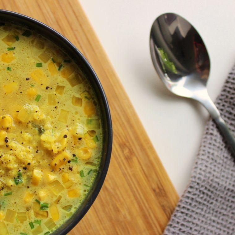 Zupa kukurydziana z curry