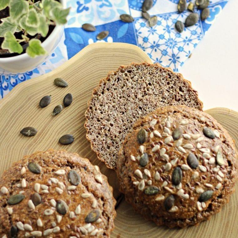 Bułki bez drożdży i mąki pszennej – migdałowe, Keto