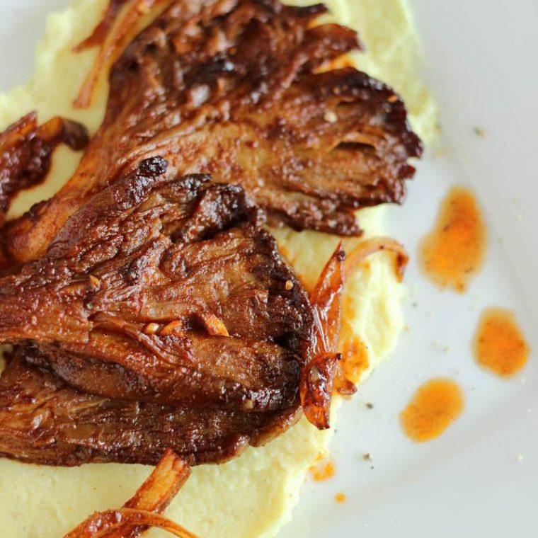 Boczniaki w mięsnej marynacie (wegańskie, keto)