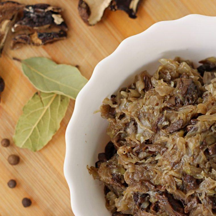 Kapusta z grzybami (wegańskie, keto)