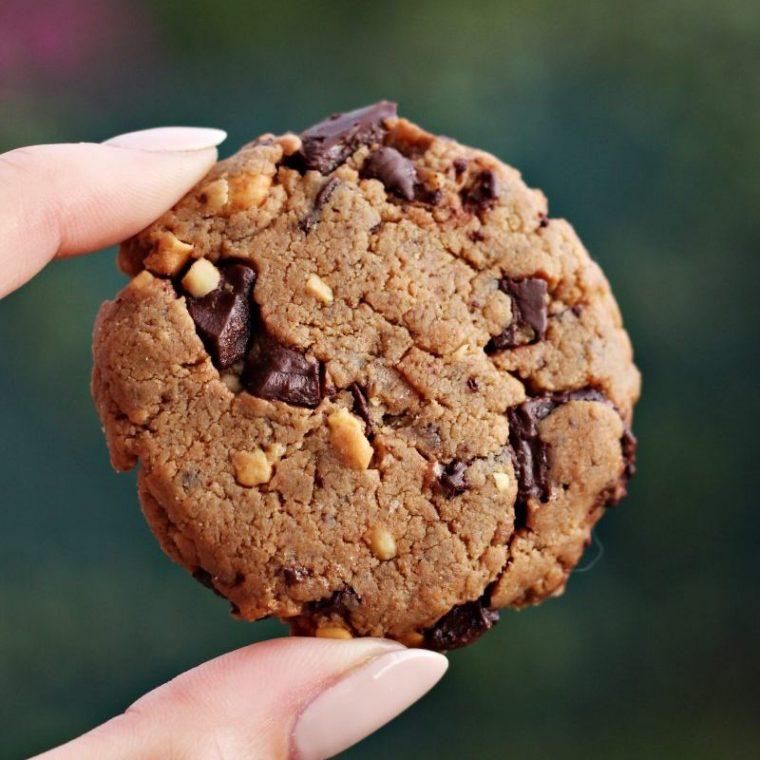 Ciasteczka orzechowe z czekoladą, bez mąki i cukru!