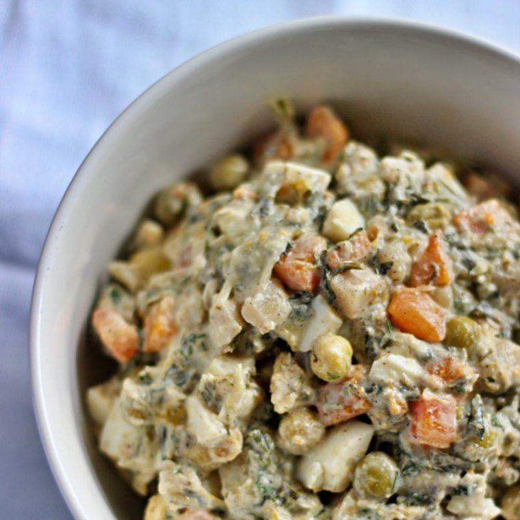 Sałatka jarzynowa bez ziemniaków (keto, low carb)