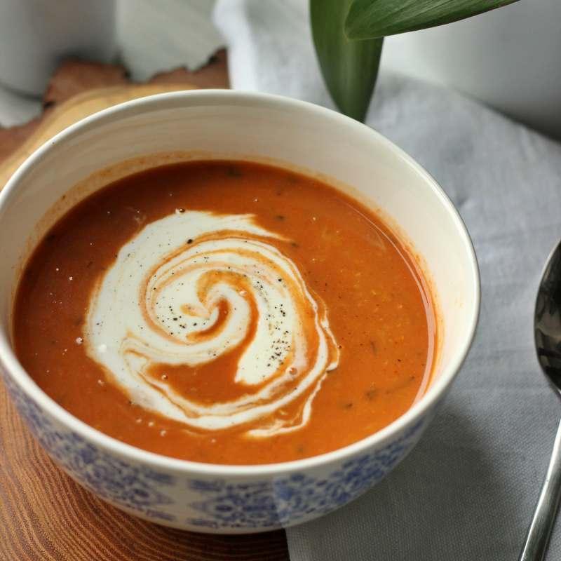 Pomidorowa z soczewicą (wegańska, Low Carb)