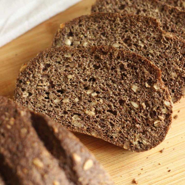 Keto chleb z siemieniem lnianym bez mąki! (low carb, bezglutenowy)