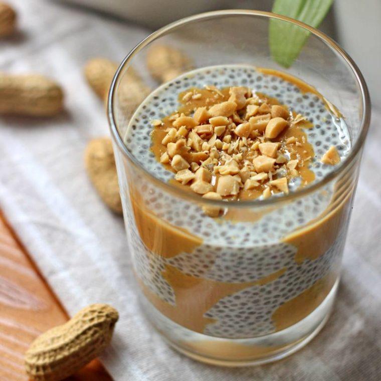 Keto pudding chia orzechowy (bez cukru, wegański)