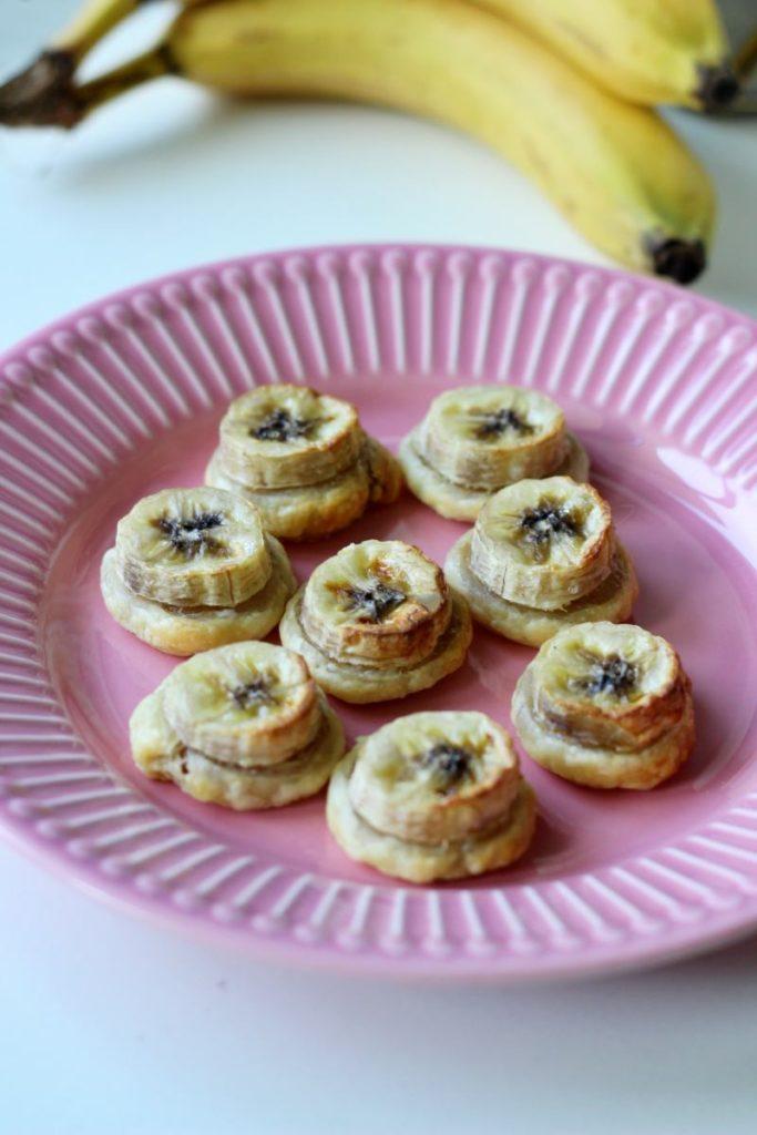 Ciasteczka francuskie z bananami