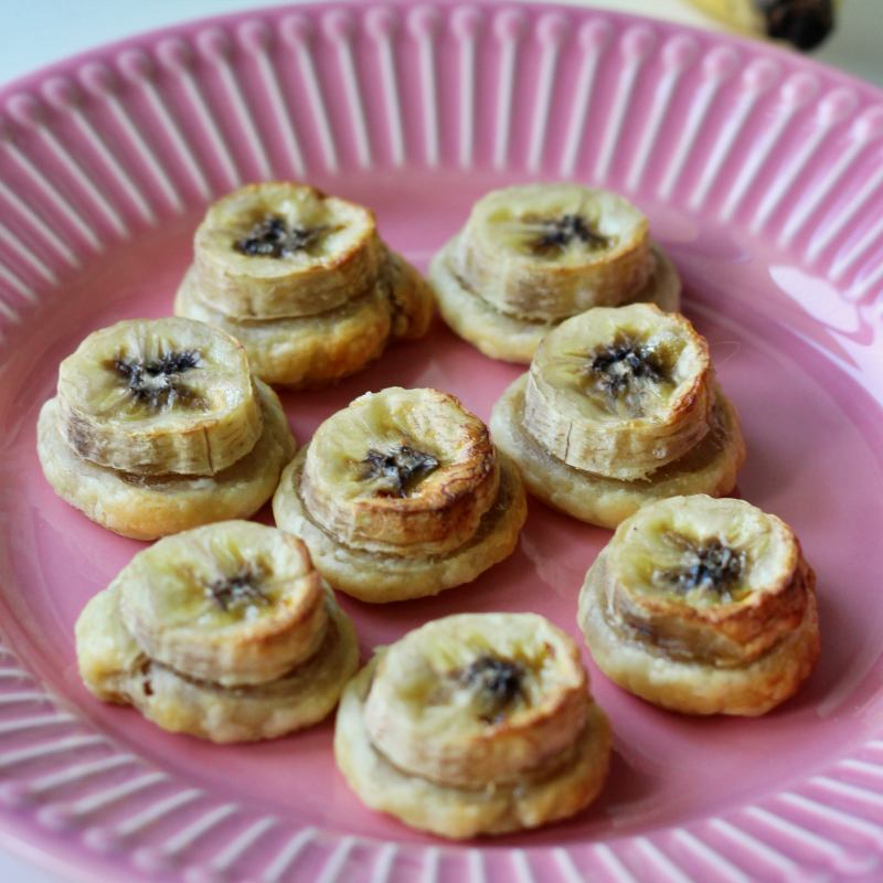 Ciasteczka francuskie z bananami (wegańskie)